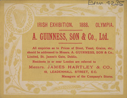 Advert for A Guinness Sons & Co, Ltd